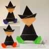 3 origami witches