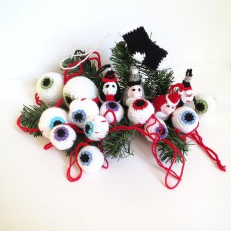 """Boules de Noël """"yeux"""""""