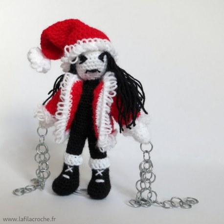 Poupée d'art Blackeux de Noël.