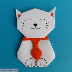 Marque page chat origami kawaii