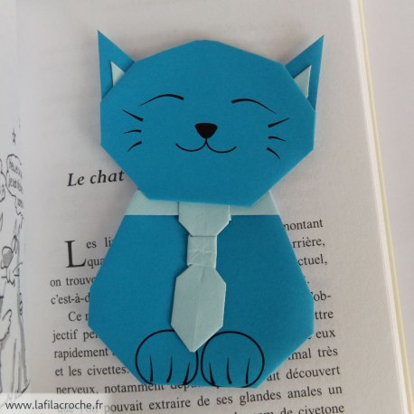 Signet chat origami kawaii