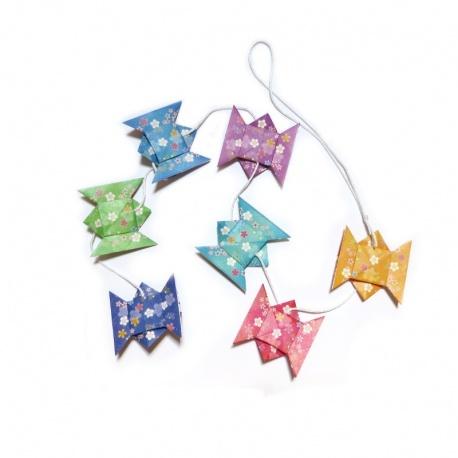Guirlande origami noeuds des amoureux