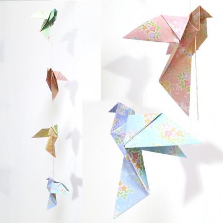 Guirlande colombes origami