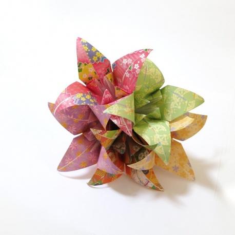 Bouquet de 5 lys en papier origami.