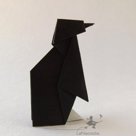 Pingouin en origami