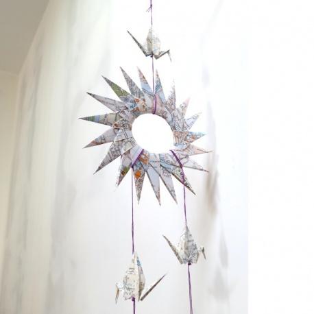 Mobile origami Soleil