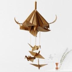 Mobile origami lys et grues
