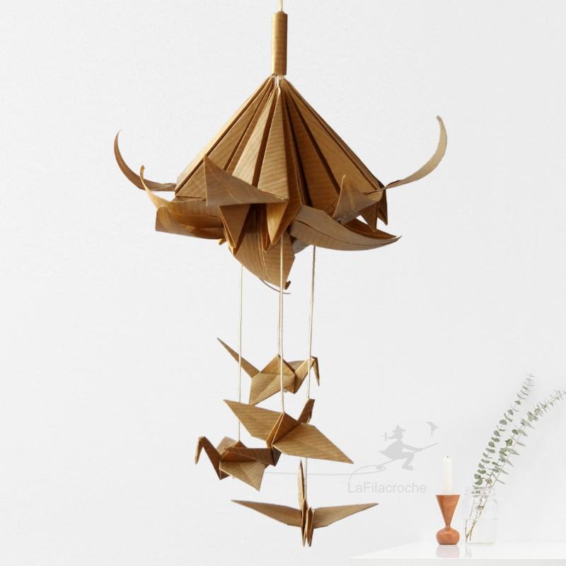 Lys En Origami mobile origami bouquet fleurs de lys et grues fait main