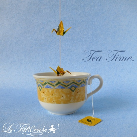 Guirlande de mini grues: Tea Time.