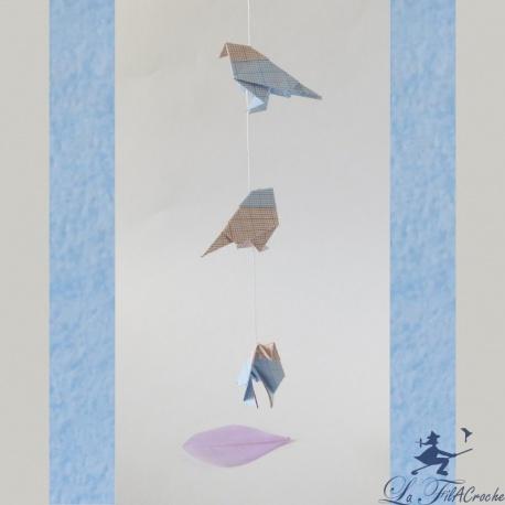 Guirlande de mini oiseaux: Pli millimétré!