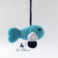 Guirlande pour bébé poissons au crochet Poséidon