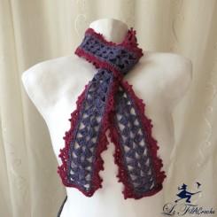 Echarpe bicolore au crochet: Sylphe