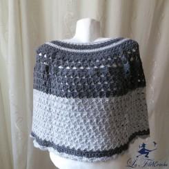 Chauffe-épaules gris au crochet 38/40