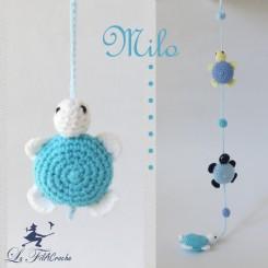Guirlande de Tortues bleues au crochet