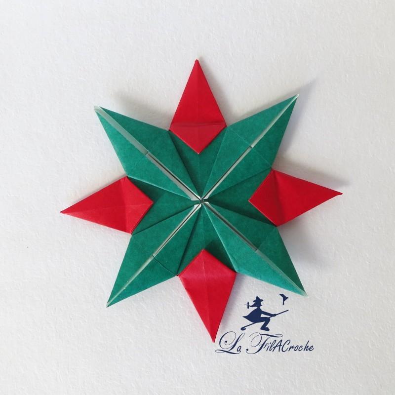 etoile de no l origami lot de 12. Black Bedroom Furniture Sets. Home Design Ideas