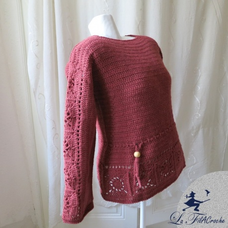 Pull au crochet taille 42/44