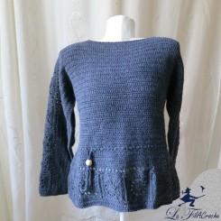 Pull crochet grande taille 46/48