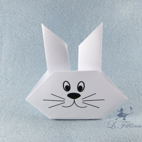Marque-places tête de lapin en origami