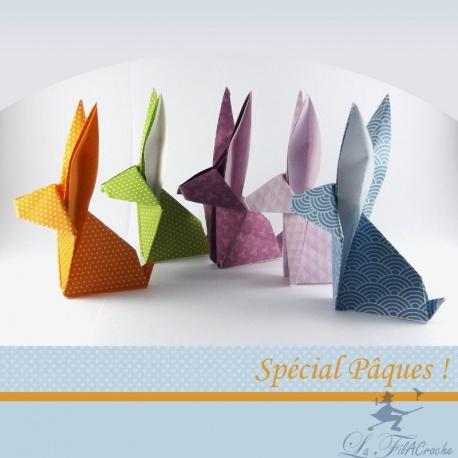 Lapins de Pâques en origami