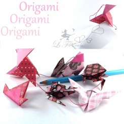Guirlande d'origami mélangés