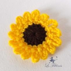 Fleur de tournesol au crochet