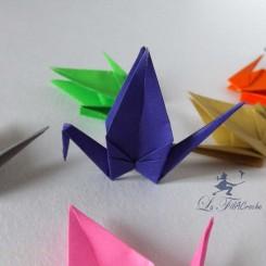 grues en origami