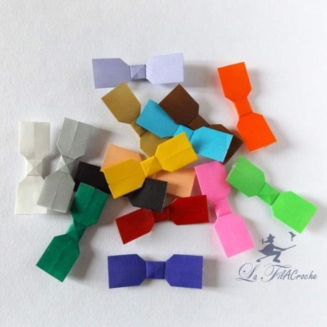 Noeuds papillons en origami