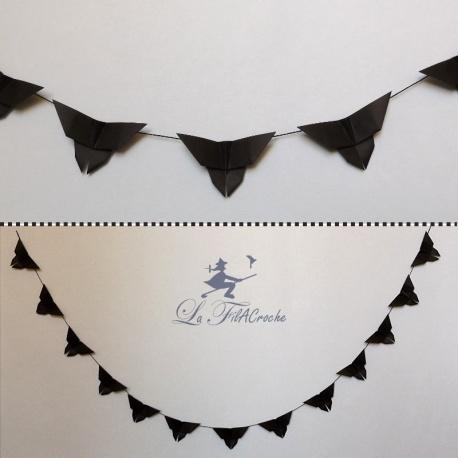 Guirlande de Papillons noirs en origami