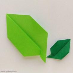 feuilles en origami