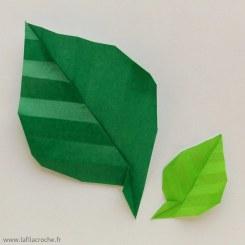Feuilles nervurées en papier