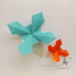 Fleurs de bleuet en origami
