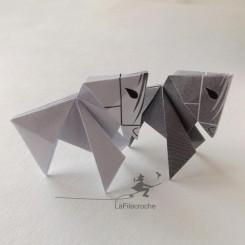 Cheval en origami