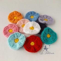 Fleur ronde au crochet