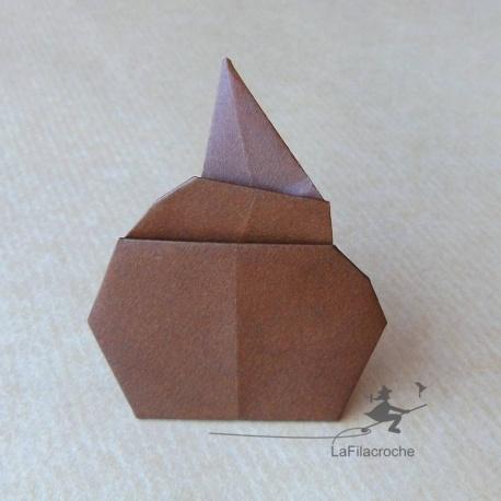 Crotte en origami