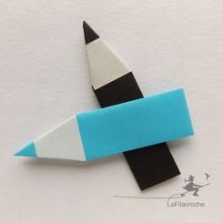 Crayon en origami