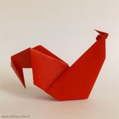 Coq en origami