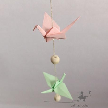 Guirlande phosphorescente en origami