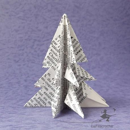 Mini sapins en papier recyclé