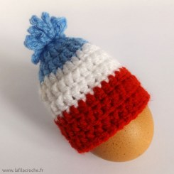 Cache-oeuf bonnet bleu blanc rouge France