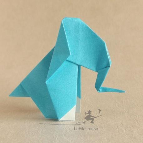 Eléphant en origami