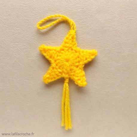Décoration étoile filante à suspendre