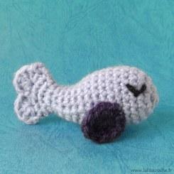 Amigurumi poisson au crochet lilas