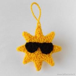 Suspension soleil à lunettes