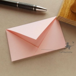 Enveloppe classique en origami