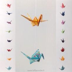 Guirlande grues origami sakura