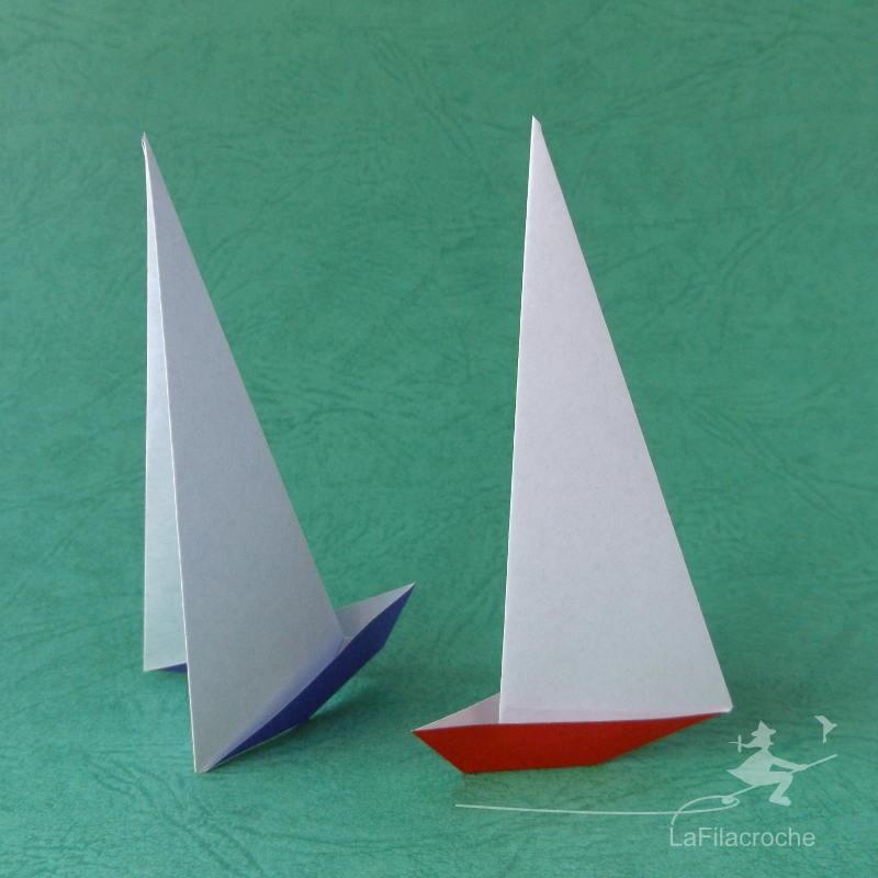 Bateaux Voiliers En Origami Pour Loisirs Creatifs Et Decoration