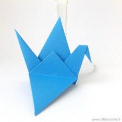 Marque-places grue bleu