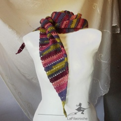 écharpe trapèze fait main
