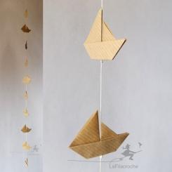 guirlande voiliers en papier