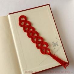 marque-page dentelle au crochet